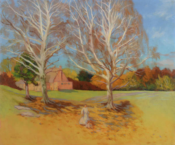 Church Yard Painting - White Song Fall by Bruce Zboray