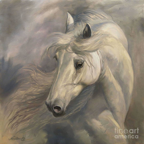 Wall Art - Painting - White Stallion by Jeanne Newton Schoborg