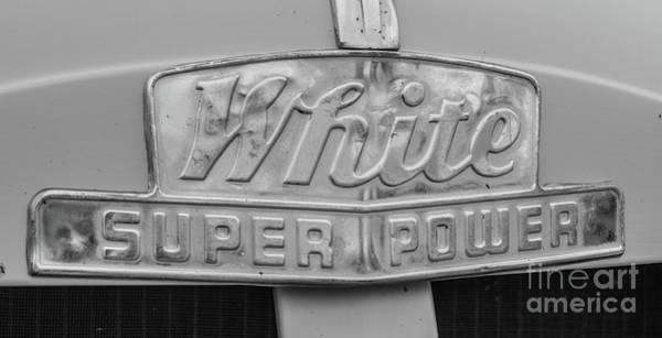 Photograph -  1948 White Super Power - Bw by Tony Baca