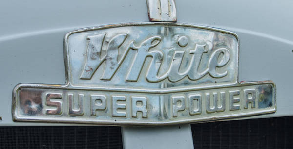 Photograph -  1948 White Super Power by Tony Baca