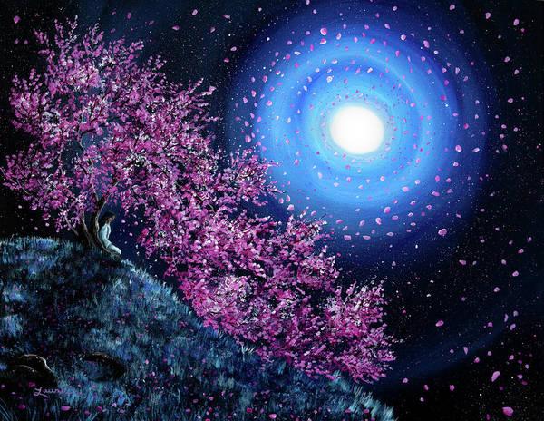 Tara Painting - White Tara In Cascading Sakura by Laura Iverson