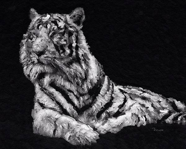 Painting - White Tiger by Mark Taylor