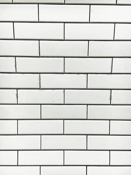 Wall Art - Photograph - White Tiles Background by Tom Gowanlock