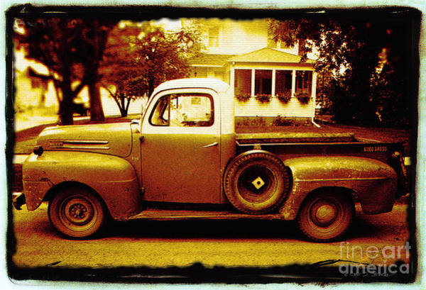 Photograph - White Top Truck by Craig J Satterlee