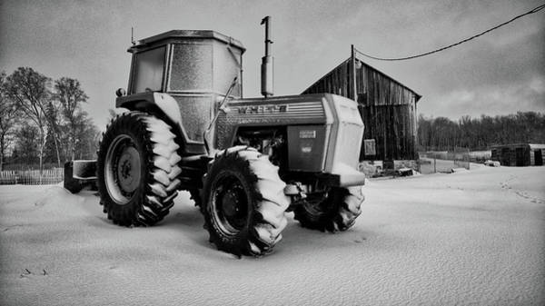 Photograph - White Tractor by Bryan Smith