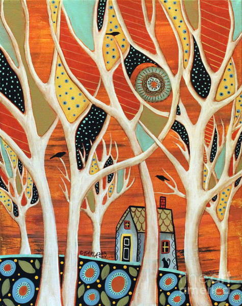 Wall Art - Painting - White Trees by Karla Gerard