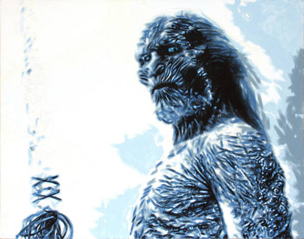The Walking Dead Painting - White Walker by Hood aka Ludzska