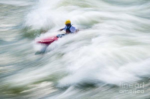 Wall Art - Photograph - White Water Kayaking by Oscar Gutierrez