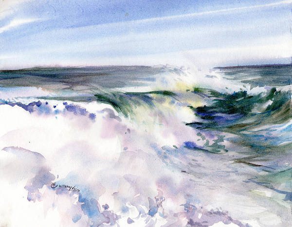 Wave Breaking Painting - White Water by P Anthony Visco