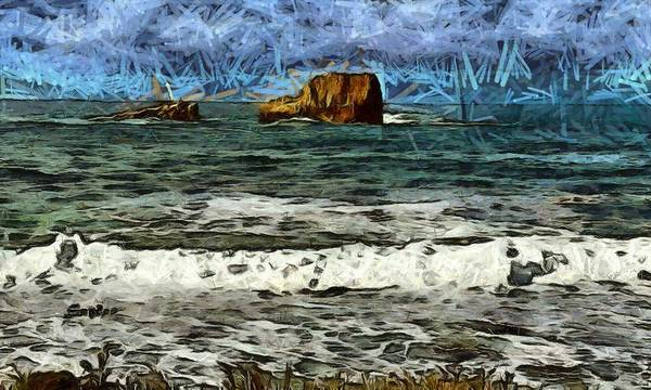 Photograph - White Water Piedras Blancas Light Station Abstract by Floyd Snyder
