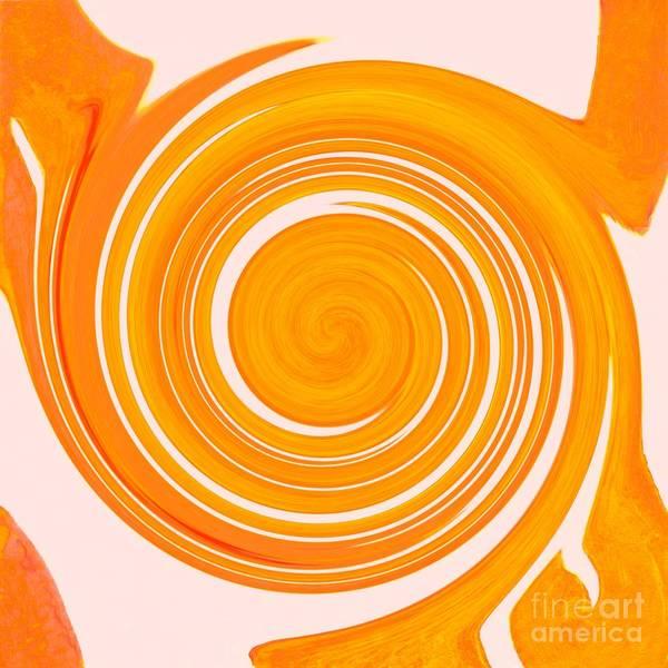 Digital Art - White Waves Swirling - Fire Element by Helena Tiainen