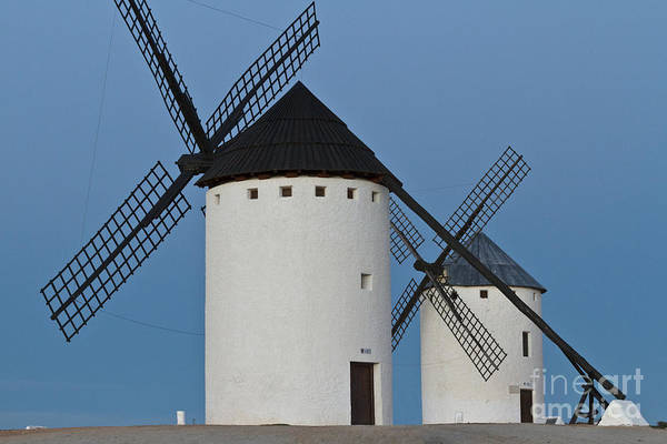 Photograph - White Windmills by Heiko Koehrer-Wagner