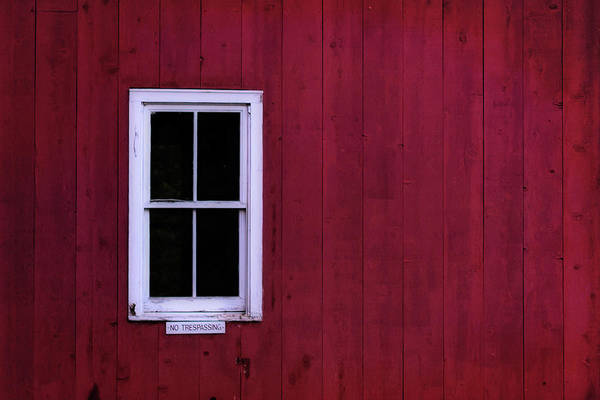 Wall Art - Photograph - White Window On Red Minimalist by Terry DeLuco
