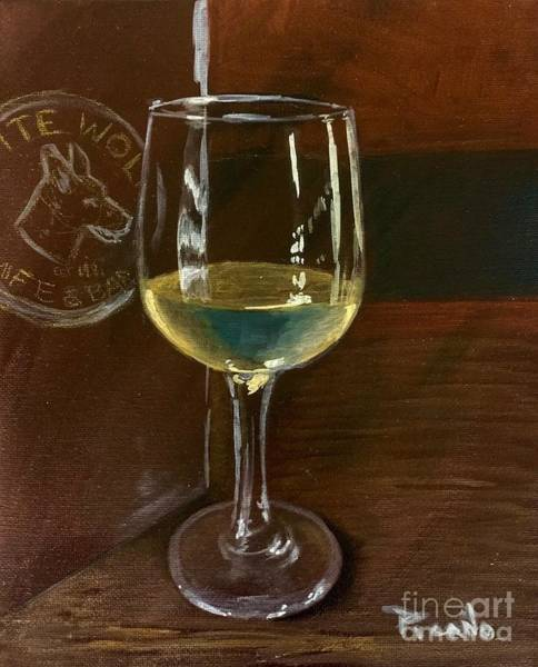 Painting - White Wolf Chardonnay by Holly Picano