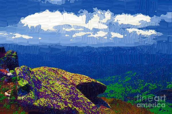 Adirondack Mountains Painting - Whiteface Mountain View by Diane E Berry