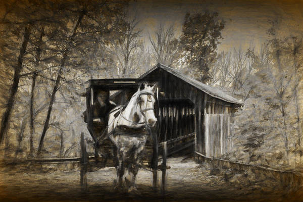 Photograph - Whites Bridge With Painterly Effect by Randall Nyhof