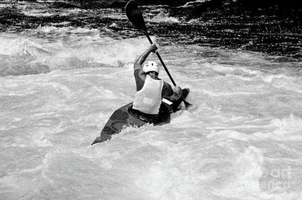Photograph - Whitewater Paddling by Les Palenik