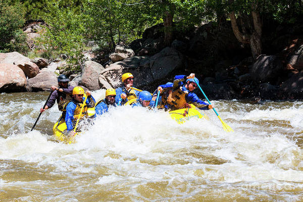 Photograph -  Whitewater Rafting The Numbers by Steve Krull