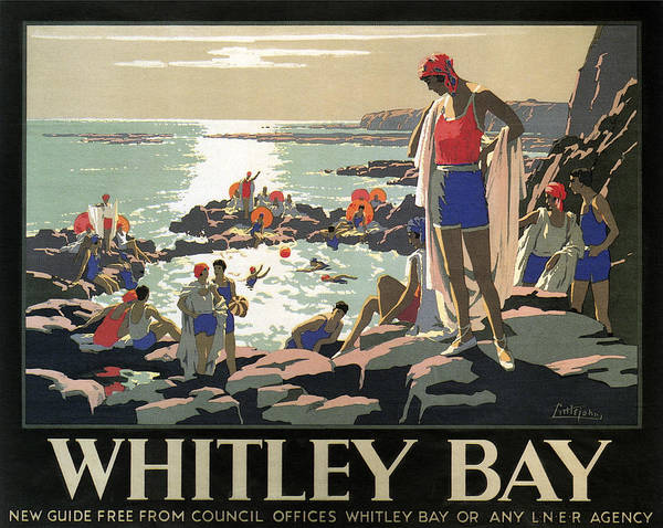 Wall Art - Photograph - Whitley Bay By L. N. E. Railroad C. 1930 by Daniel Hagerman