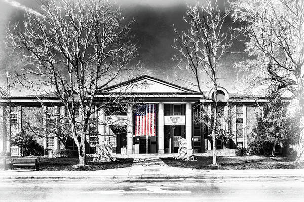 Photograph - Whitley County Courthouse Flag by Sharon Popek