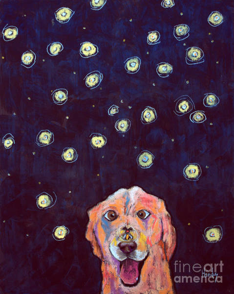 Firefly Painting - Whitney And The Fireflies by David Hinds