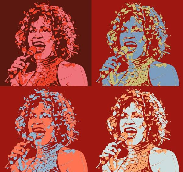 Smile Mixed Media - Whitney Houston Pop Art Panels by Dan Sproul