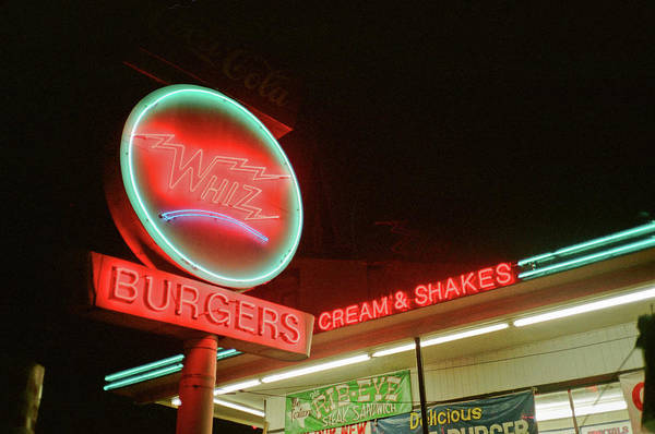 Whiz Burgers Neon, San Francisco Art Print