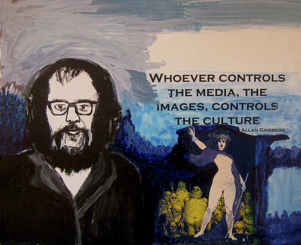 Wall Art - Painting - Who Controls The Media? by James Gallagher