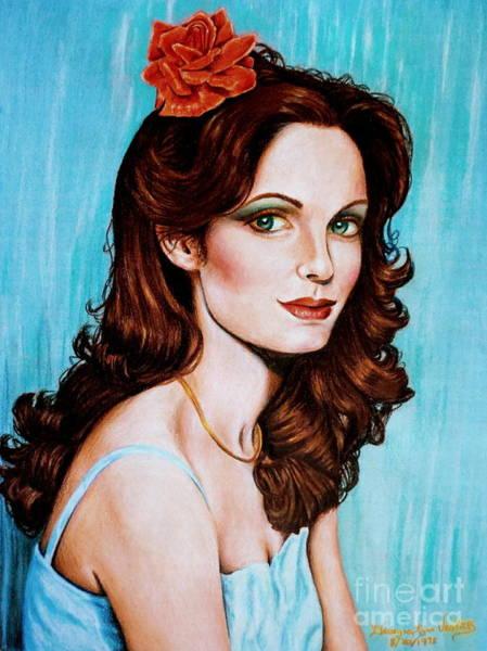 Drawing - Flower In Her Hair by Georgia's Art Brush