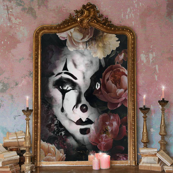 Digital Art - Who Is The Clown In That Mirror by Artful Oasis