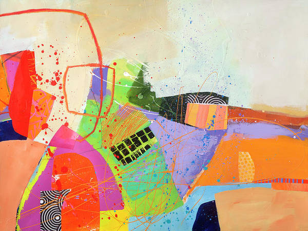Acrylic Collage Painting - Who Knew It Could Be So Complicated by Jane Davies