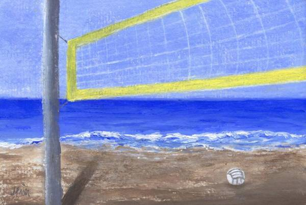 Volley Painting - Who Wants To Play by Jamie Frier