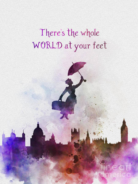 Watercolour Mixed Media - Whole World At Your Feet by My Inspiration