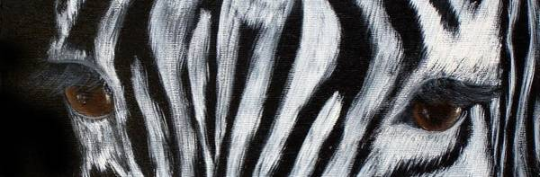Wall Art - Painting - Whos Watching Who   Zebra by Darlene Green