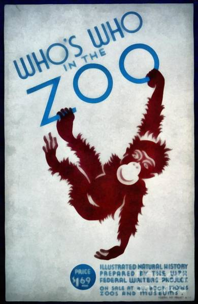 Wall Art - Painting - Who's Who In The Zoo Wpa by Edward Fielding