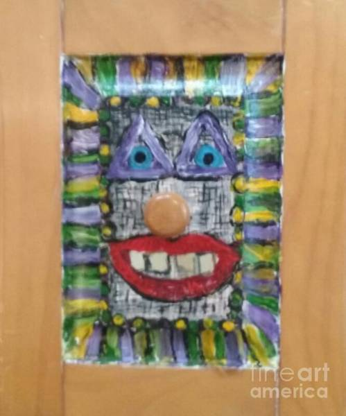 Recycling Painting - Whose At The Door by Seaux-N-Seau Soileau