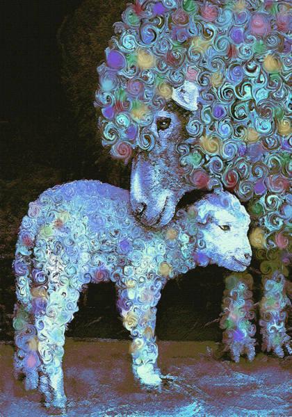 Family Farm Wall Art - Digital Art - Whose Little Lamb Are You? by Jane Schnetlage