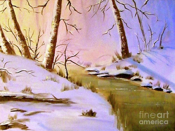 Painting - Whose Woods These Are by Patsy Walton