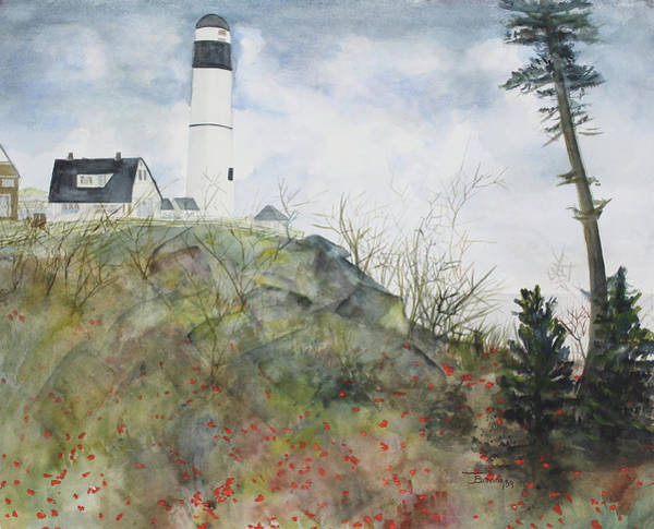 Wall Art - Painting - Whulj Lighthouse by Janice Buehring
