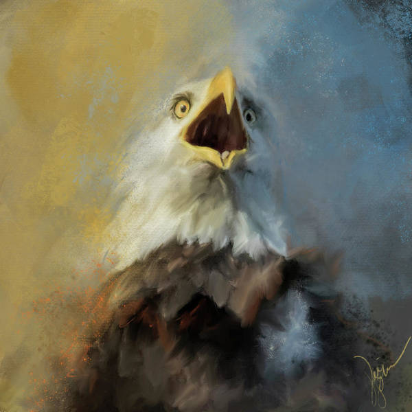 Painting - Why Bald Eagle Art by Jai Johnson