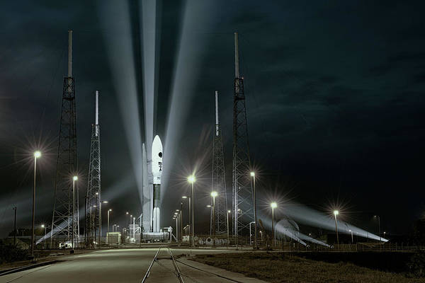 Digital Art - Why Do Rockets Launch At Night  by OLena Art - Lena Owens