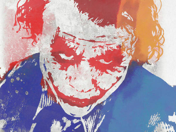 Wall Art - Mixed Media - Why So Serious by Dan Sproul