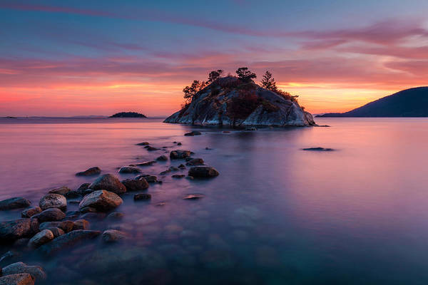 Photograph - Whytecliff Park Bc At Dusk by Pierre Leclerc Photography
