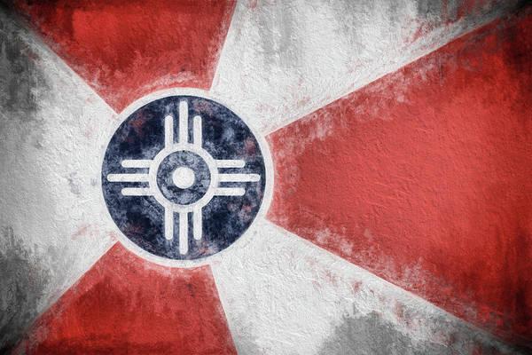 Wall Art - Digital Art - Wichita City Flag by JC Findley