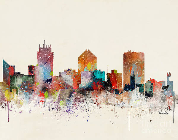 Wall Art - Painting - Wichita Skyline by Bri Buckley