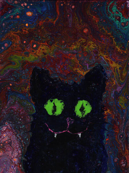 Painting - Wicked Kitty by Catherine G McElroy