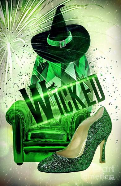 Wicked Witch Digital Art - Wicked by Mo T