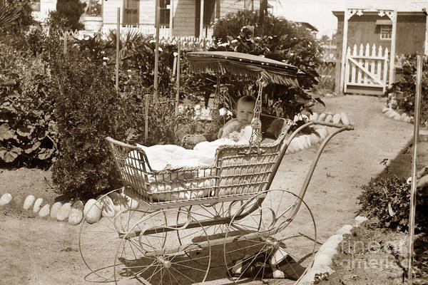 Photograph - Wicker Baby Stroller by California Views Archives Mr Pat Hathaway Archives