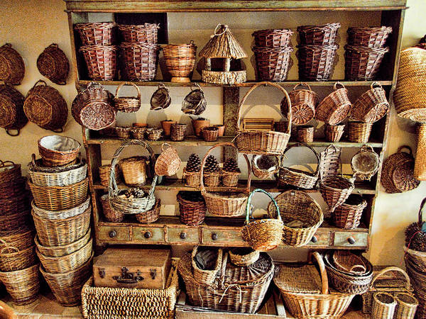 Wicker Wall Art - Photograph - Wicker Baskets by David Smith
