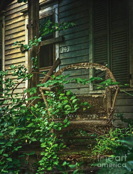 Photograph - Wicker Chair by Debra Fedchin